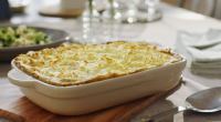 "Mary Berry served up venison cottage pie with red wine on Mary Berry Everyday. Mary says: ""Give an everyday classic a makeover with venison mince. Rich with red wine, this..."