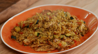 "Mary Berry served up Panang chicken stir-fry with honey for a perfect for a midweek meal on Mary Berry Everyday. Mary says: ""For the best result, make sure the rice..."