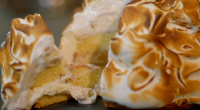 Michel Roux Jr served up peanut butter and jelly baked Alaska on Hidden Restaurants. The ingredients include: butter, sugar, flour, peanut butter, jam, homemade ice cream, raspberry liqueur, eggs and...