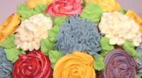Juliet Sear served up a show-stopping cupcake bouquet on This Morning. The ingredients for the cupcakes (makes about 20 cupcakes): 300g salted butter, at room temperature, 300g golden caster sugar,...
