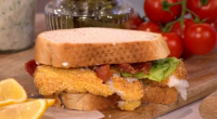 John Torode served up homemade fish fingers with peas, tartare sauce, and a fish finger sandwich on This Morning. The ingredients are: 4 pieces of thick cod or haddock, each...