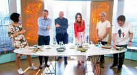 Yasmin Khan showcased her hot yoghurt and chickpea soup on Sunday Brunch. The ingredients are: 30g butter, 2 tbsp sunflower oil, 2 medium onions, finely chopped, 3 garlic cloves, crushed,...