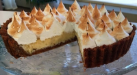 Lorraine Pascale served up a zesty Key lime meringue pie with ginger snaps on This Morning. The ingredients are: 60g butter, 250g ginger snap biscuits, 2 tbsp soft light brown...