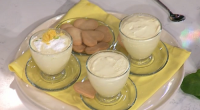 Phil Vickery served up lemon mousse with Clotted cream and lemon curd dessert in minutes on This Morning. The ingredients are: Finely grated zest and juice of about five unwaxed...