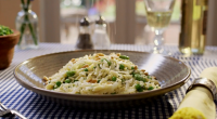 Mary Berry served up orzo pasta with broad beans, lemon and thyme on Mary Berry Everyday. The recipe is available in Mary's book titled: Mary Berry Everyday – available at...