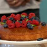 Lisa Faulkner Coconut Polenta Cake recipe on Sunday Brunch