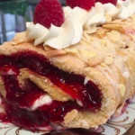 Jane's gluten free raspberry roulade recipe on Lorraine