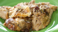 "Nigel Slater served up slow roast leg of lamb with herb paste rub and creamy mash potatoes on Nigel Slater's Dish of the Day. Nigel says: ""Tender, slow-roasted lamb, infused..."