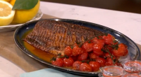 Phil Vickery served up spice crust salmon with cauliflower cous cous on This Morning. The ingredients for the cauliflower cous cous: 150g cous cous, 1 medium cauliflower, 6 tbsp olive...