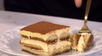 "Gino served up a proper Italian tiramisu with amaretto liqueur for his signature dish on This Morning. Gino says: ""To make a child friendly version, substitute the coffee and amaretto..."