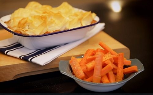 Matt Tebbut served up a creamy chicken and leek pie with a carrot side dish for under five pounds on Save Money: Good Food. The ingredients include: chicken thighs, chicken...