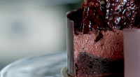 Raymond Blanc served up a gluten free flourless chocolate cake with chocolate mousse and chocolate tuile on Raymond Blanc: How to Cook Well.