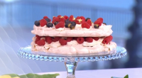 Lisa Faulkner served up Easter meringue cake with hazelnuts, berries and amaretto on This Morning. The ingredients are: 5 medium egg whites, 250g caster sugar, 1 tsp cornflour, 1 tsp...