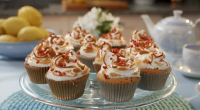 Mary Berry served up lemon meringue cupcakes with strawberries and lemon curd on Mary Berry Everyday. The ingredients for the sponge: 100g baking spread, 150g self-raising flour, 150g caster sugar,...