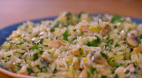 Matt Tebbut served up a risotto with frozen spinach and chicken pie filling for the Austin family on Save Money: Good Food. The ingredients include: onions, tarragon, frozen spinach, onions...