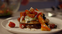 Simon Rimmer served up buckwheat blueberry pancakes with cottage cheese and basil syrup on Eat the Week with Iceland. Tyhe ingredients are: 200g buckwheat flour, 50g caster sugar, 2g salt,...