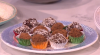 Phil Vickery served up a dark chocolate treat with coconut and raisins to eat yourself clever on This Morning. The ingredients are: 200g melted bitter chocolate, 50g desiccated coconut, 50g...