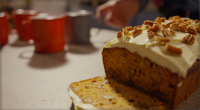 Simon Rimmer served up a butternut squash with dates loaf with pecan nuts on today's episode of Eat the Week with Iceland. The ingredients are: 225g butternut squash (roasted), 175g...