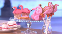 Juliet Sears served up flamingo bakes including 'Pool float' donuts, flamingo meringue and cup cakes on This Morning. The ingredients for the donuts are: 6 ring doughnuts, 1 packet/ 340g...