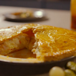 Simon Rimmer cheese and potato plate pie on Eat the Week with Iceland