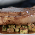 Raymond Blanc pork chop with saute potatoes and persillade recipe