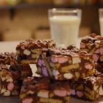 Simon Rimmer rocky road dessert with dark chocolate and marshmallows recipe on Eat the Week with Iceland
