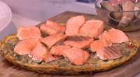 Phil Vickery served up salmon frittata with mackerel and a simple tomato salsa to eat yourself clever on This Morning. Ingredients are: 4 tbsp olive oil, 2 red onions, peeled...