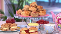 Candice Brown – winner of last year's Great British Bake Off – served up award winning scones with raspberries, chocolate and homemade jam on This Morning. The ingredients for the...