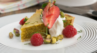 Simon Rimmer served up a pistachio tart with Greek yoghurt, pistachios and mint on today's episode of Sunday Brunch. The ingredients for the pastry are: 225g plain flour, 100g butter,...