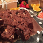 Dean Edwards gooey chocolate brownies recipe on Lorraine