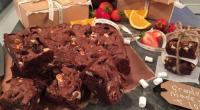 Dean Edwards served up gooey chocolate brownies for Father's Day on today's episode of Lorraine. The ingredients are: 50g raisins, 30ml rum (optional), 200g unsalted butter, 200g dark chocolate (70%...