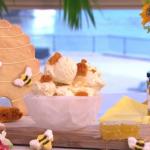 Phil Vickery honey ice cream with honeycomb recipe on This Morning