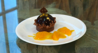 William Curley served up a jaffa cake tart with chocolate mousse, orange marmalade and almond cream on Saturday Kitchen. See recipes from William in his book titled: Couture Chocolate: A...