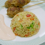 Gregg Wallace pork kebabs with couscous recipe