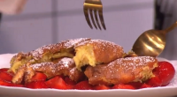 Wolfgang Puck served up a souffle pancake with strawberry sauce dessert with an a-list twist on This Morning. the ingredients for the strawberry sauce are: 960g strawberries, hulled and quartered,...