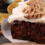 Dean Edwards carrot and courgette cake recipe on Lorraine