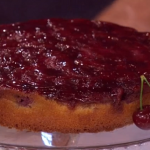 Phil Vickery upside down cherry and almond cake with cream recipe on This Morning