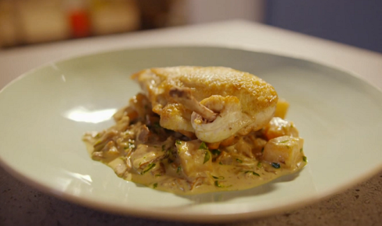 Simon Rimmer chicken breast with celeriac and tarragon sauce recipe on ...