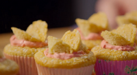 Simon Rimmer served up butterfly cakes with raspberry frosting on Eat the Week with Iceland. The ingredients are: 100g Flour, 1 Tsp Baking Powder, 4 Eggs, 55g Caster Sugar, 40g...
