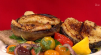 Tonia Buxton served up savoury muffins and mushrooms for a Greek Brunch on today's episode of Lorraine. The key ingredients for the muffins are courgettes, onions and feta cheese. Tonia...