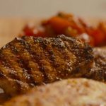 Simon Rimmer pork chops with tomato chutney  recipe on Eat the Week with Iceland