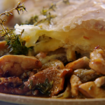 Jamie Oliver Chicken pot pie with golden puff pastry and mixed mushrooms recipe