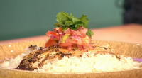 Zoe Adjonyoh served up fried tilapia and green shito salsa on Sunday Brunch. The ingredients are: 2 skin-on tilapia fillets and rapeseed oil or coconut oil, for shallow-frying. For the...