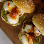 Jamie Oliver messy meatball buns with mozzarella and tomato sauce recipe