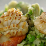 Jamie Oliver sizzling seared scallops with black pudding recipe
