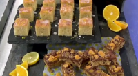 James Tanner served up honeycomb chocolate flapjacks and a lemon drizzle cake tray bake for a family fun sweet treat on today's episode of Lorraine.