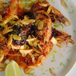 Jamie Oliver sticky mango prawns with garlic and lime recipe