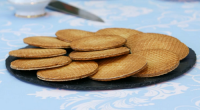 Prue Leith set the bakers the task of baking Dutch stroopwafels for the technical challenge on The Great British Bake Off. These Dutch cookies consist of a thin layer of...