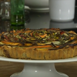 James Martin vegetable tart with pesto recipe