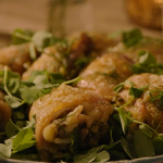 Nigella Lawson chicken and pea traybake recipe